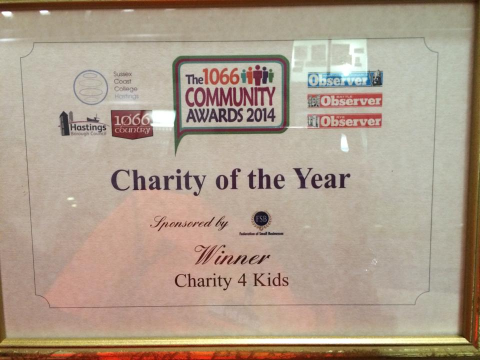 Charity of the year award 2014