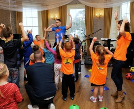 Children-getting-involved-with-Born-ready-fitness-at-CFK-3rd-birthday-party