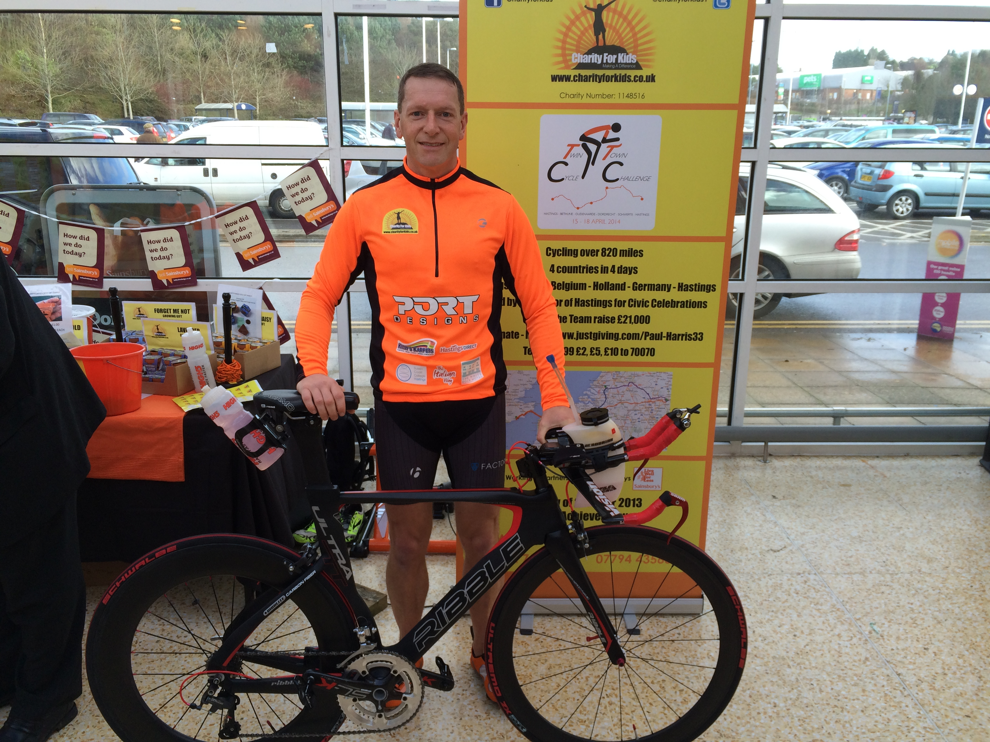 Dan taking part in the Twin Town Cycle 2014