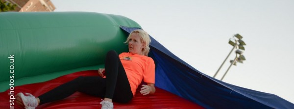 Laura slides in style