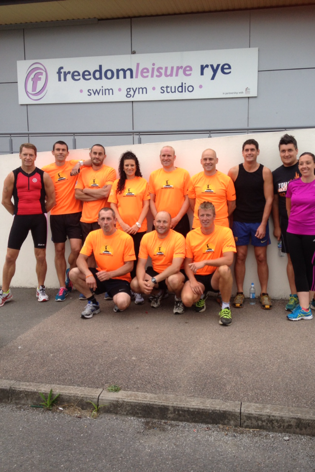 Runners supporting at Freedom Leisure, Rye