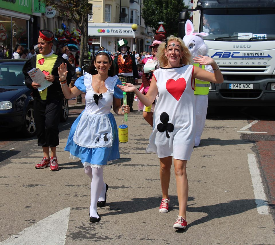 Sarah and Laura Bexhill Carnival 2014